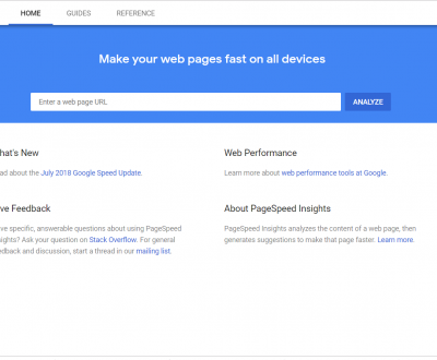 Google insights and page speed update 2018